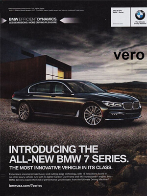 BMW menu Ad